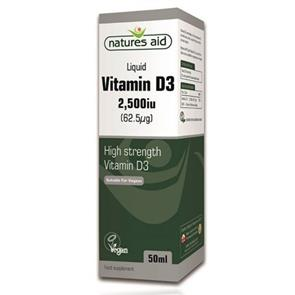 Natures Aid Liquid Vitamin D3 2500 Ui - 50ml