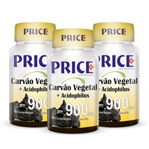 Pack 3 Carvão Vegetal + Acidophillus - Price