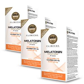 Pack 3 Melatonin GoldNutrition Clinical