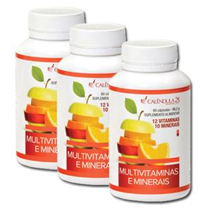 Pack 3 Multivitaminas e Minerais