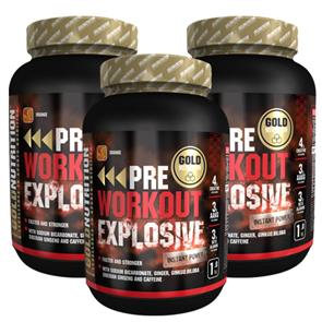 Pack 3 Pre-Workout Explosive Gold Nutrition