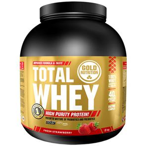 Total Whey Morango GoldNutrition - 2kg